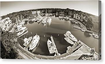 Hilton Head Harbor Town Yacht Basin 2012 Canvas Print by Dustin K Ryan