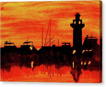 Hilton Head Lighthouse Canvas Print by Michael Vigliotti
