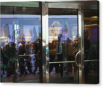 Hilton Hotel San Francisco - Protest March Canvas Print by Ralph Stein