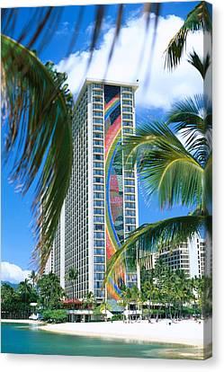 Hilton Rainbow Tower Canvas Print by Vince Cavataio - Printscapes