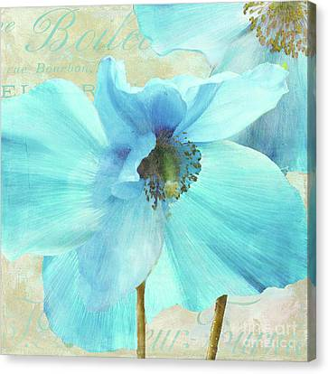 Himalayan Blue Poppy Canvas Print by Mindy Sommers