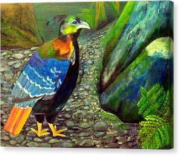 Himalayan Monal Pheasant Canvas Print by Jennie Robin
