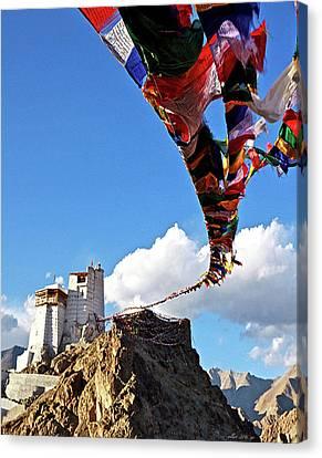 Napal Canvas Print - Himalayan Prayer Flags by Thomas Pollart