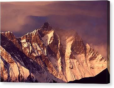 Nepal Canvas Print - Himalayas At Sunset by Pal Teravagimov Photography