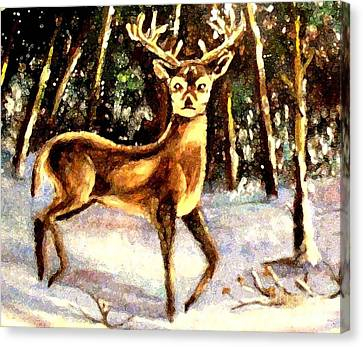 Canvas Print featuring the painting Hinds Feet by Hazel Holland