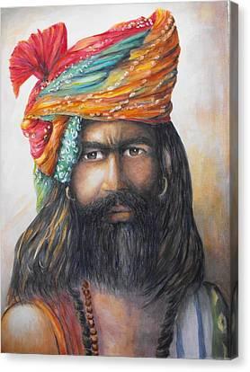 Hindu Holy Man Canvas Print