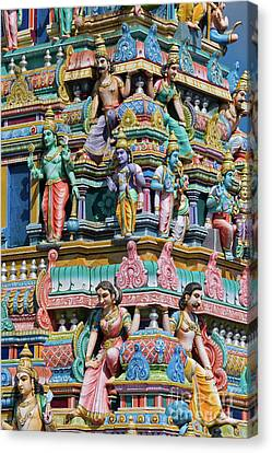 Hindu Temple Gopuram Canvas Print by Tim Gainey