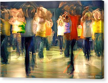 Hip Hop Dance Night Canvas Print by Robert Lacy