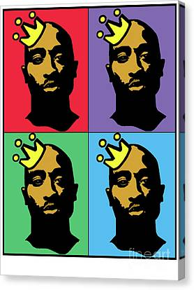 Hip Hop Icons Tupac Shakur Canvas Print by Stanley Slaughter Jr