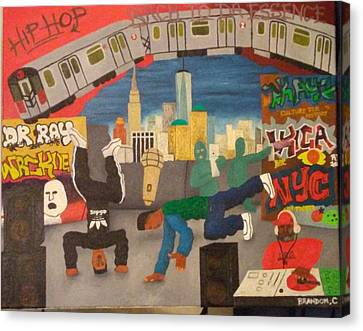 Hip-hop Stylin'picture Canvas Print by Brandon Crawford