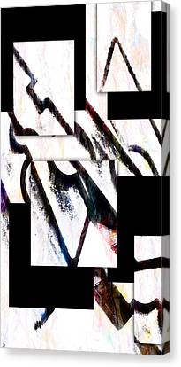 Canvas Print featuring the digital art Hip To Be Square by Ken Walker
