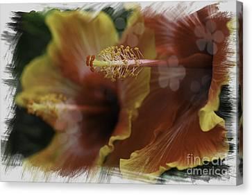 Canvas Print featuring the photograph Hippi Hibiscus by Lori Mellen-Pagliaro