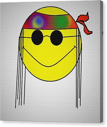 Hippie Face Canvas Print by Bill Cannon