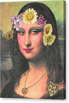 Hippie Gioconda Canvas Print