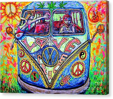 Hippie Canvas Print by Viktor Lazarev