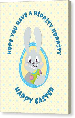 Canvas Print featuring the digital art Hippity Hoppity Easter by JH Designs