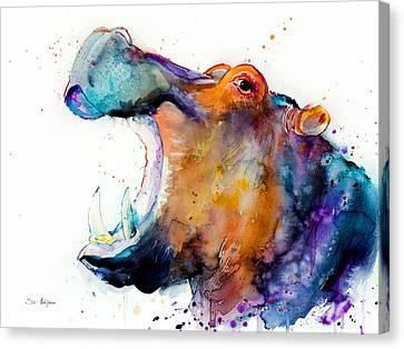 Hippo Canvas Print by Slavi Aladjova