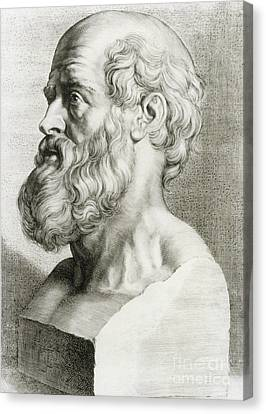 Rational Canvas Print - Hippocrates, Greek Physician by Science Source