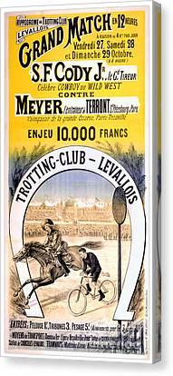 Hippodrome Du Trotting Club Levallois Canvas Print
