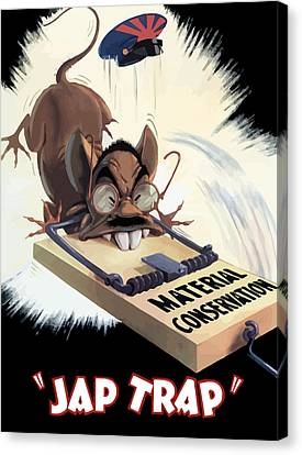 Hirohito As A Rat Canvas Print by War Is Hell Store