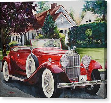 His And Hers Packard 1932 Canvas Print by Mike Hill