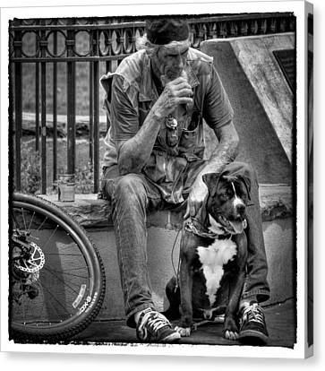 His Best Friend II Canvas Print by David Patterson