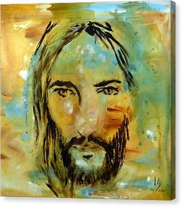 Jerusalem Canvas Print - His Face by Ivan Guaderrama