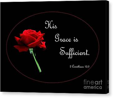 His Grace Is Sufficient Canvas Print by Eloise Schneider