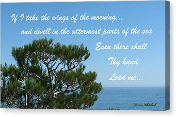 His Hand Shall Lead You Canvas Print by Doreen Whitelock