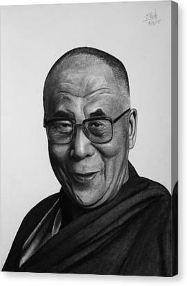 His Holiness The Dalai Lama Canvas Print