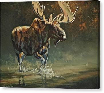 Art Of Mia Delode Canvas Print - His Majesty by Mia DeLode