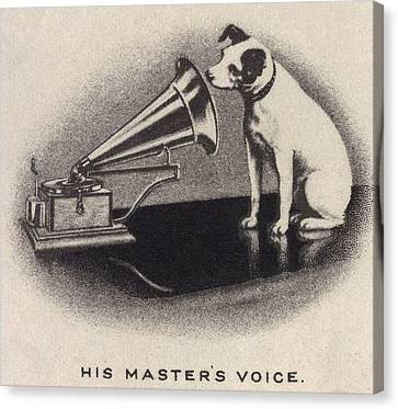 His Masters Voice, Originally Canvas Print by Everett