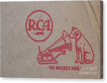 Canvas Print featuring the photograph His Masters Voice Rca by Edward Fielding