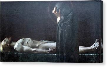 His Mother's Sorrow Canvas Print by John Feiser
