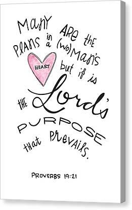 His Purpose Prevails Canvas Print