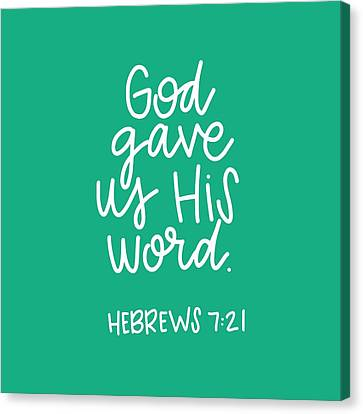 His Word Canvas Print