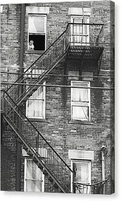 Fire Escape Canvas Print - His World  by Randy Steele