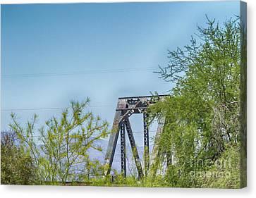 Historic Agua Fria River Railroad Bridge Canvas Print by Anne Rodkin