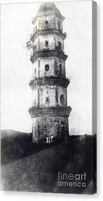 Historic Asian Tower Building Canvas Print by Jorgo Photography - Wall Art Gallery
