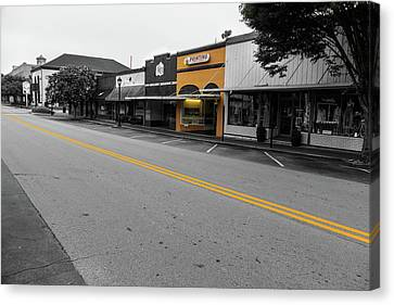Historic Buford In Selective Color Canvas Print