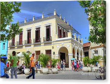 Historic Camaguey Cuba Prints Commercial Center 2 Canvas Print by Wayne Moran