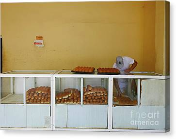 Historic Camaguey Cuba Prints The Bakery Canvas Print by Wayne Moran