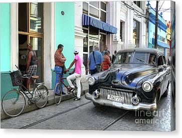 Historic Camaguey Cuba Prints The Cars 2 Canvas Print