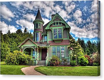 Canvas Print featuring the photograph Historic Castle In Drain Oregon by Tyra  OBryant