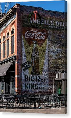 Fort Collins Canvas Print - Historic Coca Cola Brick Ad - Fort Collins - Colorado by Gary Whitton