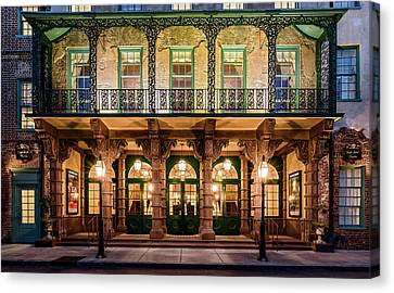 Canvas Print featuring the photograph Historic Dock Street Theatre by Carl Amoth
