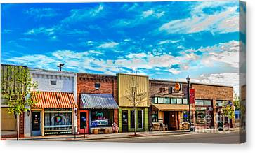 Historic Downtown Emmett 01 Canvas Print by Robert Bales
