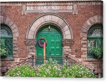Historic Elks Club Building Geneva New York Canvas Print by Edward Fielding