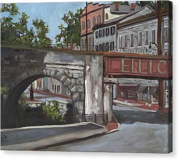 Historic Ellicott City  Canvas Print by Edward Williams