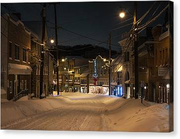 Historic Ellicott City In Snow Canvas Print